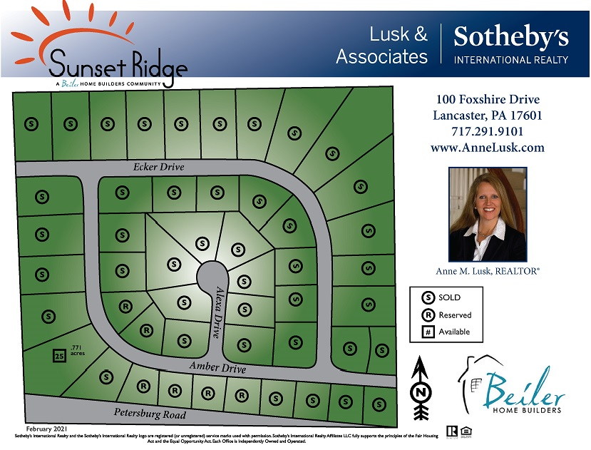 Sunset Ridge Plot Map 2021